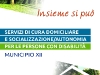 Oasi Federico Roma - Depliant per Servizi di cura domiciliare a persone con disabilità - Municipio XII Roma